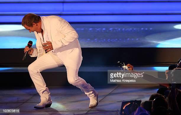 Johnny Logan performs during the Starnacht am Woerthersee on July 10 2010 in Poertschach Austria