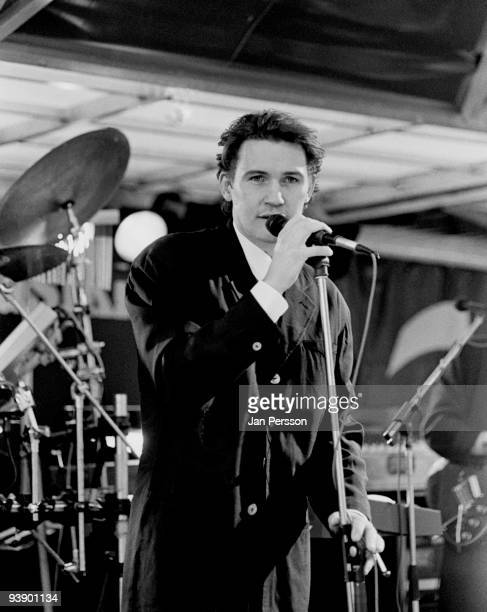 Johnny Logan performs on stage in 1989 in Copenhagen, Denmark.