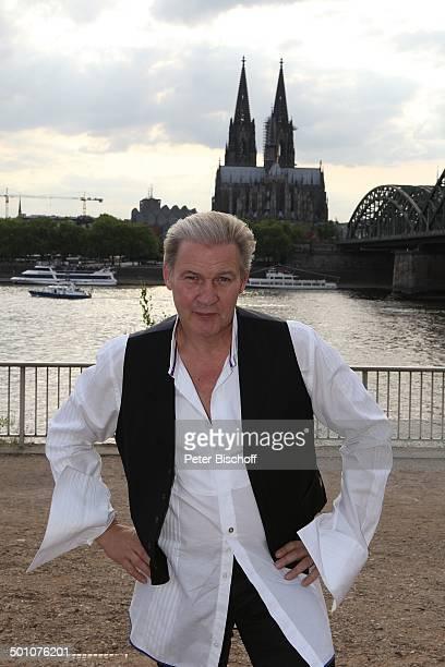 """Johnny Logan , PK zum WDR-Konzertabend """"ESC Flair"""", Köln, Nordrhein-Westfalen, Deutschland, Europa, Dom, Brücke, Fluss Rhein, Sänger, Promi FTP, BB;..."""