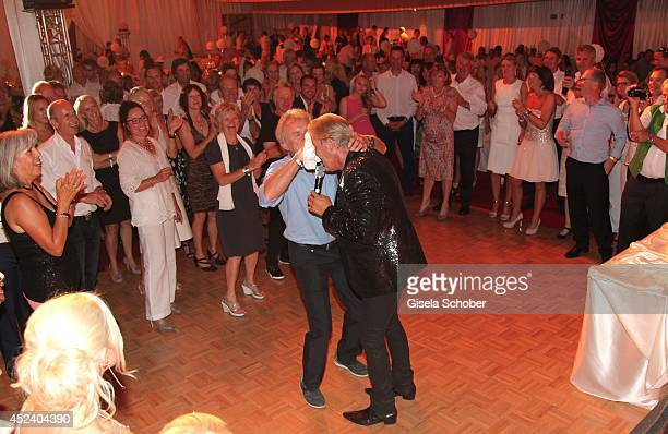 Johnny Logan, Sepp Maier attend the Kaiser Cup 2014 Gala on July 19, 2014 in Bad Griesbach near Passau, Germany.