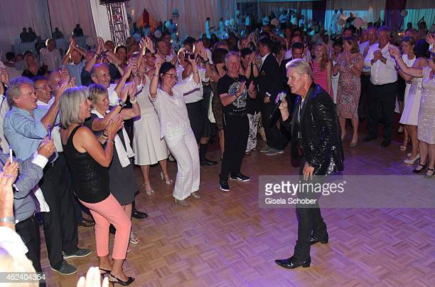 Johnny Logan sings at the Kaiser Cup 2014 Gala on July 19, 2014 in Bad Griesbach near Passau, Germany.
