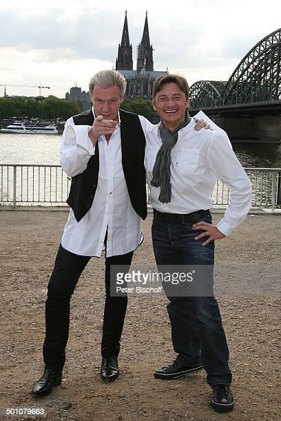 Johnny Logan links gewann 2 x als Sänger 1980 und 1987 sowie einmal als Komponist den Grand Prix heute Eurovision Song Contest Stefan Verhasselt PK...