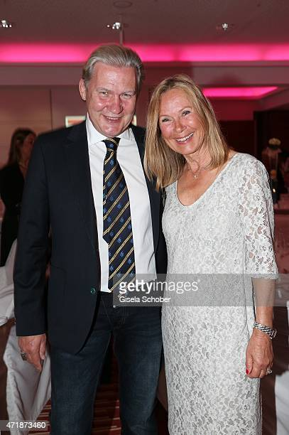 Johnny Logan, Sybille Beckenbauer during the Franz Roth Golf Cup gala evening in favour of Michael Roll Stiftung 'Tabaluga' on May 1, 2015 in Bad...