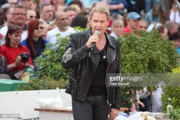 Johnny Logan ZDFSonntagsshow Fernsehgarten Mainz RheinlandPfalz Deutschland Europa Show Auftritt Bühne Mikro singen Zuschauer Publikum Sänger Promi...