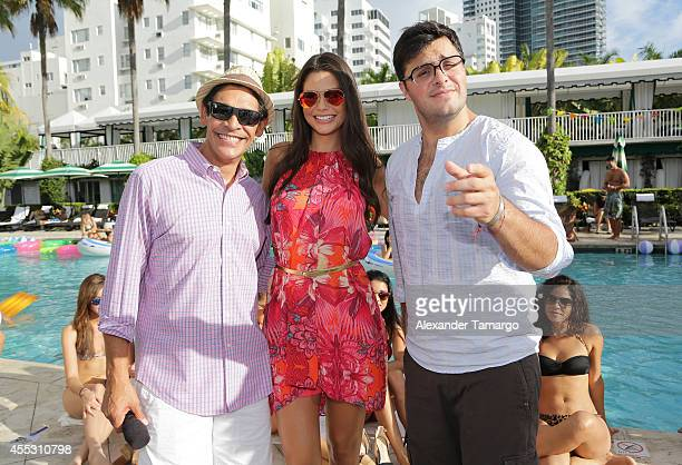 Johnny Lozada Ana Patricia Gamez and Paul Stanley are seen on the set of Despierta America at Surfcomber Miami South Beach A Kimpton Hotel on...