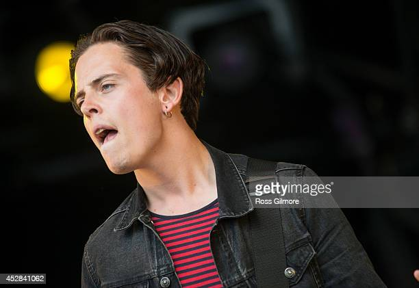 Johnny Madden of Baby Strange performs on stage at Wickerman Festival at Dundrennan on July 26, 2014 in Dumfries, United Kingdom.