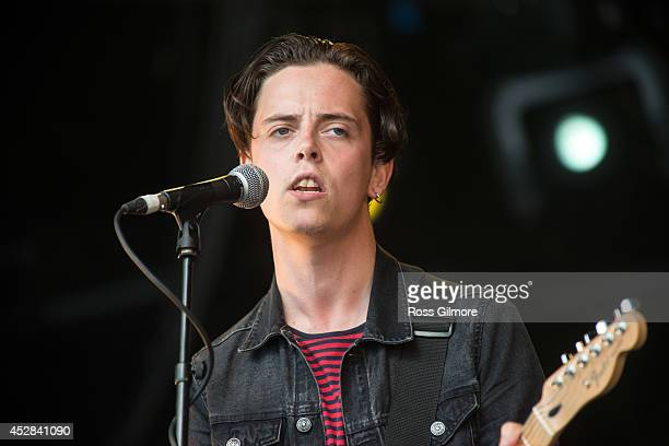 Johnny Madden of Baby Strange performs on stage at Wickerman Festival at Dundrennan on July 26 2014 in Dumfries United Kingdom