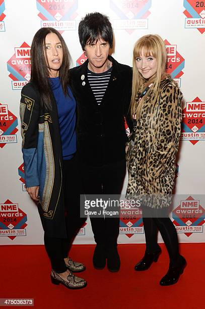 Johnny Marr and Angie Marr attends the annual NME Awards at Brixton Academy on February 26 2014 in London England
