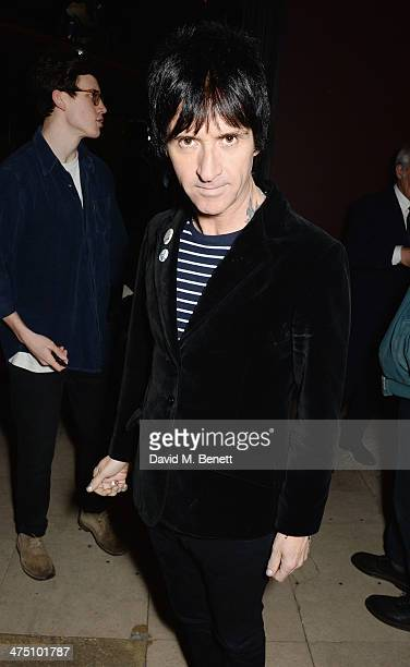 Johnny Marr attends the after party for the NME Awards at Sketch on February 26 2014 in London England