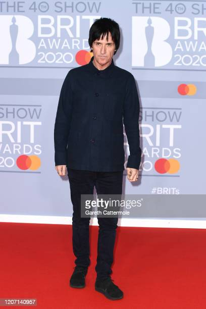Johnny Marr attends The BRIT Awards 2020 at The O2 Arena on February 18 2020 in London England