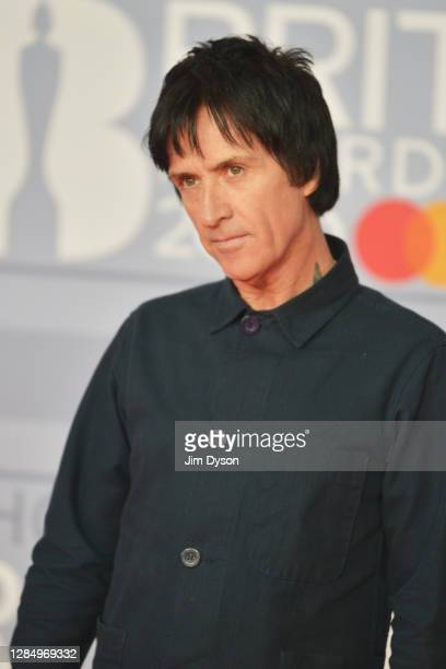 Johnny Marr attends The BRIT Awards 2020 at The O2 Arena on February 18, 2020 in London, England.
