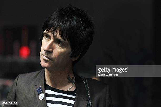 Johnny Marr backstage at City Live Manchester City Football Club's Season Launch Party at Manchester Central on 14th August 2014