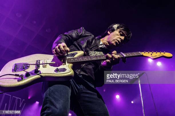 "Johnny Marr, former guitarist of the British band The Smiths, performs on the second day of the 27th edition of music festival ""A Campingflight to..."