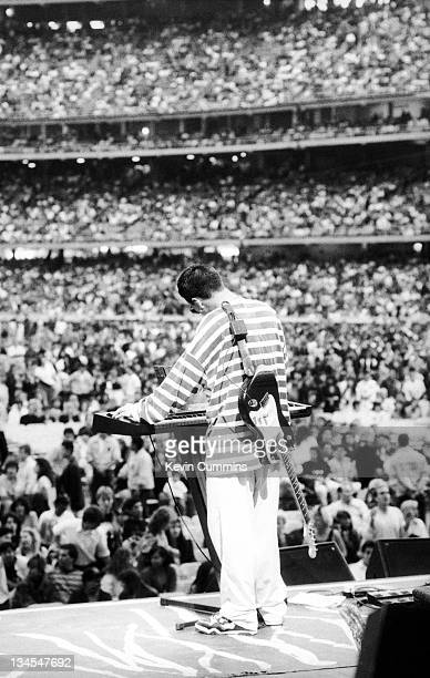 Johnny Marr of Electronic performs on stage at the Dodgers Stadium Los Angeles USA 4th August 1990