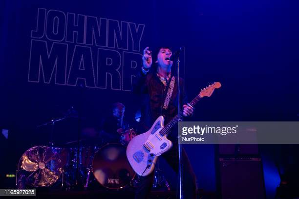 Johnny Marr performing Live at the Roundhouse part of The AIM Independent Music Awards, hosted by the Association of Independent Music, London UK 3...