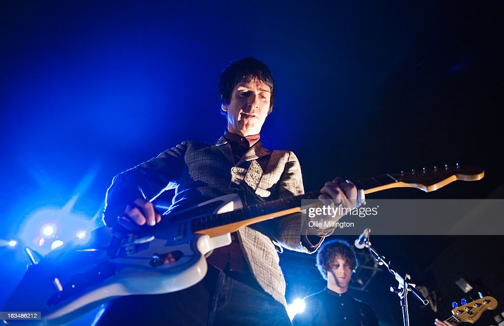 Johnny Marr performs at O2 Academy on March 10, 2013 in Oxford, England.