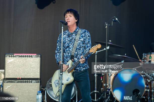 Johnny Marr performs at Rock en Seine on August 23, 2019 in Saint-Cloud, France.