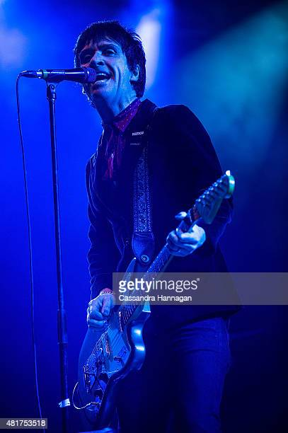 Johnny Marr performs for fans during Splendour in the Grass on July 24 2015 in Byron Bay Australia