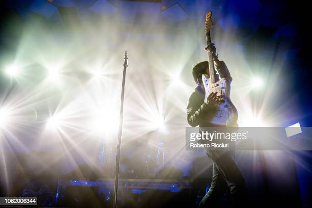 Johnny Marr performs on stage at Barrowland Ballroom on November 15 2018 in Glasgow Scotland