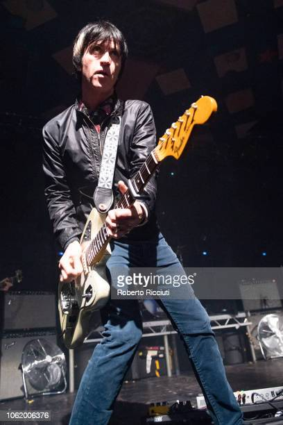 Johnny Marr performs on stage at Barrowland Ballroom on November 15, 2018 in Glasgow, Scotland.