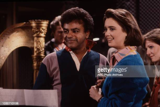 Johnny Mathis Julia Campbell appearing on the soap opera 'Ryan's Hope'