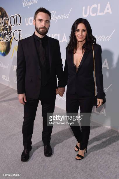 Johnny McDaid and Courteney Cox attend the UCLA IoES honors Barbra Streisand and Gisele Bundchen at the 2019 Hollywood for Science Gala on February...