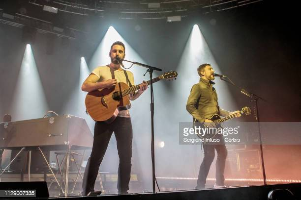 Johnny McDaid and Nathan Connolly of Snow Patrol perform on stage at Fabrique Club on February 11 2019 in Milan Italy