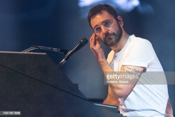 Johnny McDaid of Snow Patrol performs on stage at The SSE Hydro on January 31, 2019 in Glasgow, Scotland.