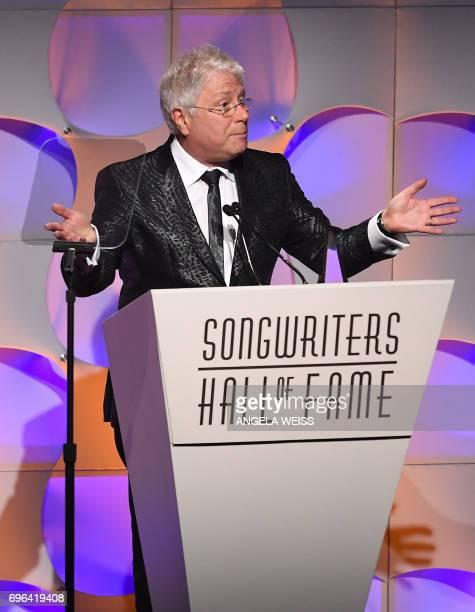 Johnny Mercer Award Honoree Alan Menken speaks at the Songwriters Hall Of Fame 48th Annual Induction and Awards at New York Marriott Marquis Hotel on...
