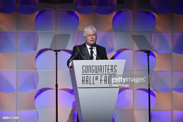Johnny Mercer Award Honoree Alan Menken speaks onstage at the Songwriters Hall Of Fame 48th Annual Induction and Awards at New York Marriott Marquis...