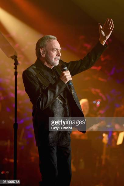 Johnny Mercer Award Honoree Neil Diamond performs onstage during the Songwriters Hall of Fame 49th Annual Induction and Awards Dinner at New York...