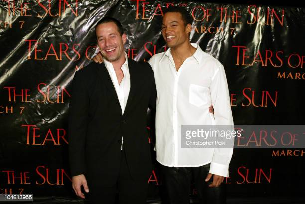 Johnny Messner and Charles Ingram during 'Tears Of The Sun' Special Screening Arrivals at Mann's Village in Westwood CA United States