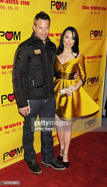 Johnny Messner and Kristen Ruhlin attend the Los Angeles Premiere of She Wants Me at Laemmle's Music Hall 3 on April 5 2012 in Beverly Hills...