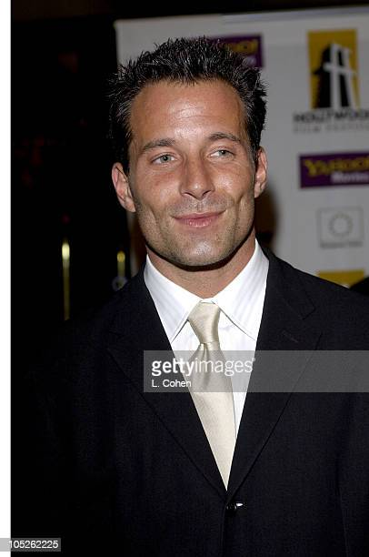 Johnny Messner during 2003 Hollywood Awards Gala Ceremony Red Carpet at Beverly Hilton Hotel in Beverly Hills California United States