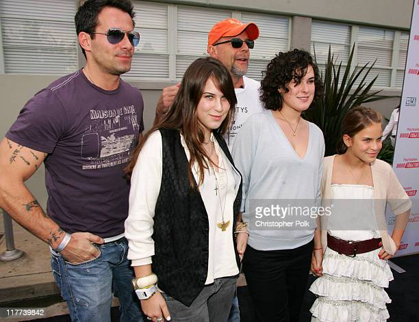 Johnny Messner Scout Willis Bruce Willis Rumer Willis and Tallulah Willis