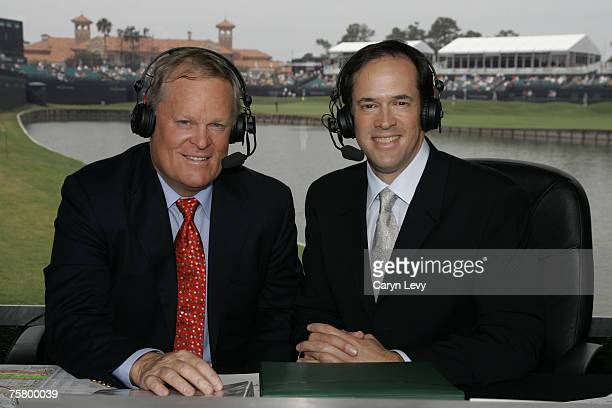 Johnny Miller and Dan Hicks during the third round of THE PLAYERS Championship held on THE PLAYERS Stadium Course at TPC Sawgrass in Ponte Vedra...