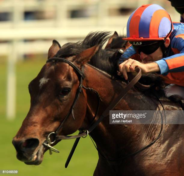 Johnny Murtagh and Alessandro Volta come home to land The totesportcom Derby Trial Stakes Race run at Lingfield Park Racecourse on May 10 2008 in...