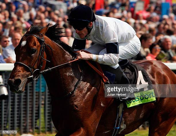 Johnny Murtagh and Motivator score an easy victory in The totesport Dante Stakes Race run at York Racecourse on May 12 2005 in York England