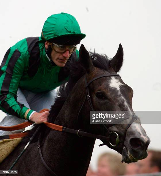 Johnny Murtagh and Proclamation The Jersey Stakes head down the straight at York Racecourse on June 15 2005 at York England Today was the second day...