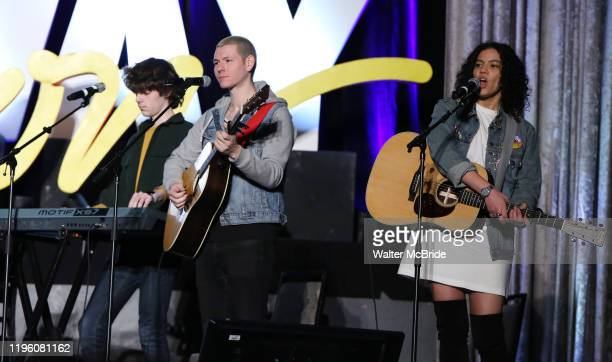 """Johnny Newcomb and Skyler Volpe from """"Sing Street"""" during the BroadwayCon 2020 First Look at the New York Hilton Midtown Hotel on January 24, 2020 in..."""