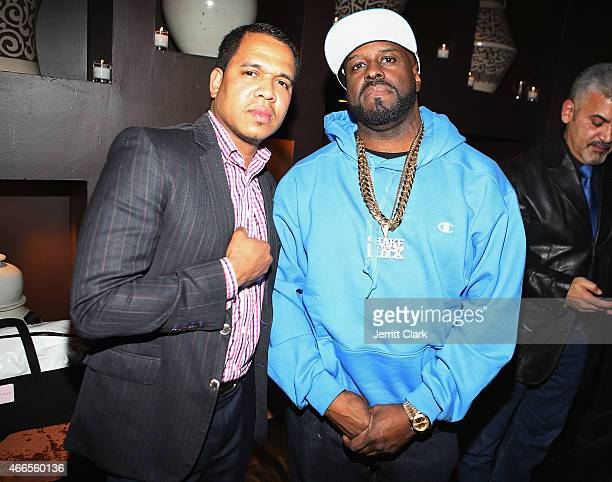 Johnny Nunez and Funkmaster Flex attend Inspired In Music Event Honoring Johnny Nunez Ralph McDaniels Funkmaster Flex at Katra Lounge on March 10...