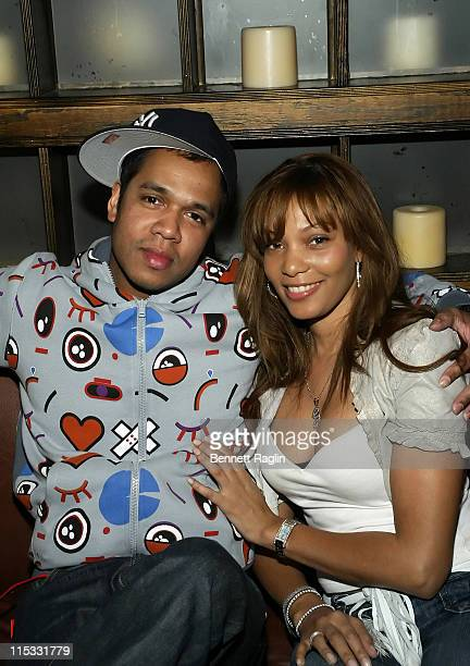Johnny Nunez and Gbassa during 'Johnny Nunez 10 Years of Entertainment Photography' Sponsored by Stoli Vodka at Home in New York New York United...