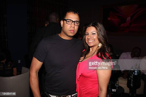 Johnny Nunez and Kiran Prashner attend Lexi Chow's birthday celebration at The 48 on March 3 2010 in New York City