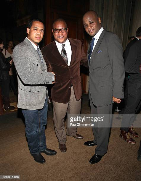 Johnny Nunez Group ManagerStrategic Partnerships Lifestyle Marketing at Target Greg Cunningham and Guest attend the Target salute to Miko Branch and...