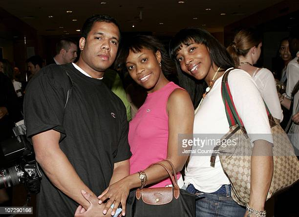 Johnny Nunez Kamaria Milford and Ginger Johnson during Sean P Diddy Combs Joins Saks Fifth Ave in Hosting an Evening for the National Underground...