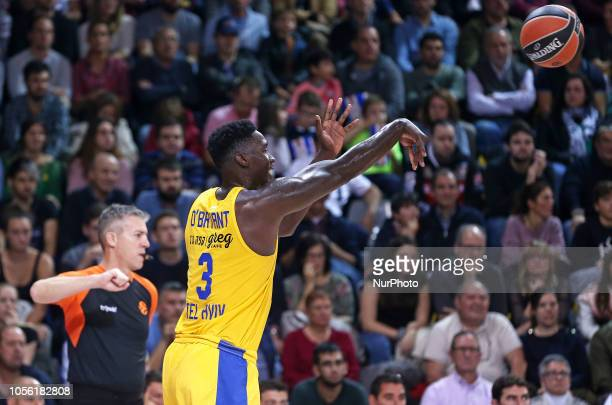 Johnny O'Bryant III during the match between FC Barcelona and Maccabi Tel Aviv corresponding to the week 5 of the Euroleague played at the Palau...