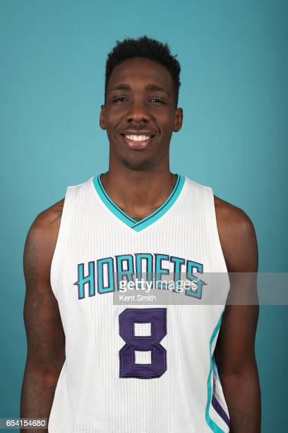 Johnny O'Bryant III of the Charlotte Hornets poses for a head shot on March 13 2017 at Spectrum Center in Charlotte North Carolina NOTE TO USER User...