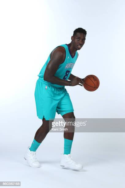Johnny O'Bryant III of the Charlotte Hornets poses for a portrait during media day on September 25 2017 at Spectrum Center in Charlotte North...