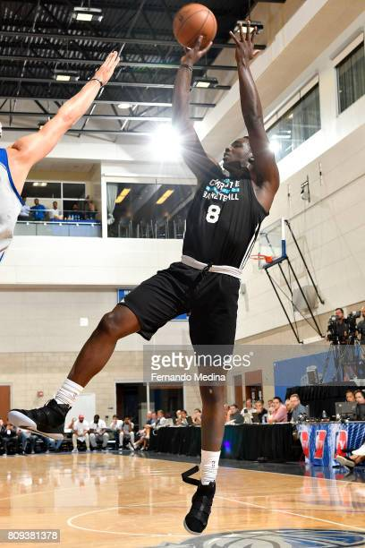 Johnny OBryant of the Charlotte Hornets shoots the ball during the game against the Detroit Pistons during the 2017 Orlando Summer League on July 5...