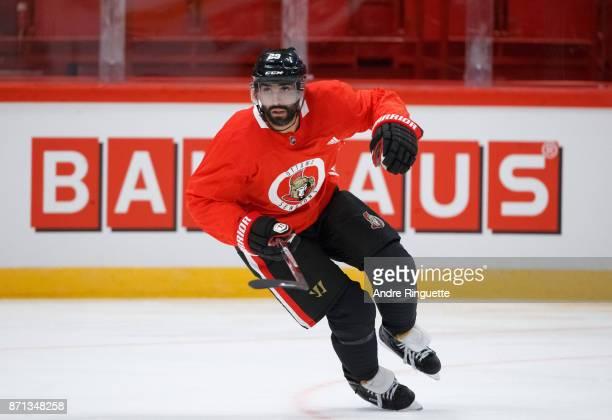 Johnny Oduya of the Ottawa Senators skates during practice at Ericsson Globe on November 7 2017 in Stockholm Sweden